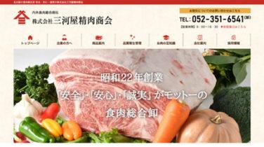 三河屋精肉商会 ホームページリニューアル